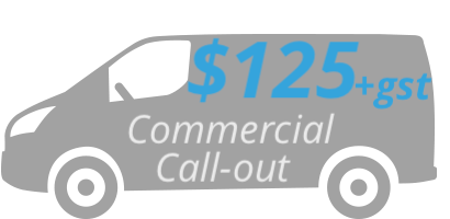$125+gst Commercial Call-out